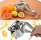 Соковыжималка ручная для фруктов с зажимом Hand Juicer | Механическая соковыжималка | Сокодавка, фото 6