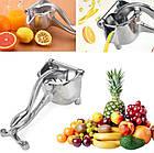 Соковыжималка ручная для фруктов с зажимом Hand Juicer | Механическая соковыжималка | Сокодавка, фото 7