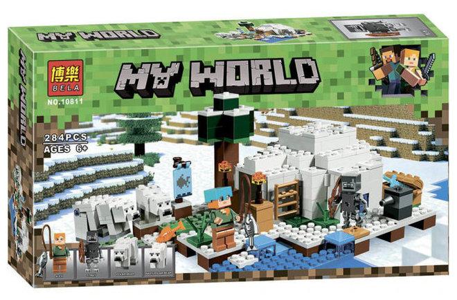 """Конструктор майнкрафт  BELA Minecraft """"Иглу"""" 284 детали"""