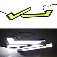 Светодиодные ДХО. LED дополнительный свет Г-образной формы 12В \ NT-AL-12 \ Пр-во Корея