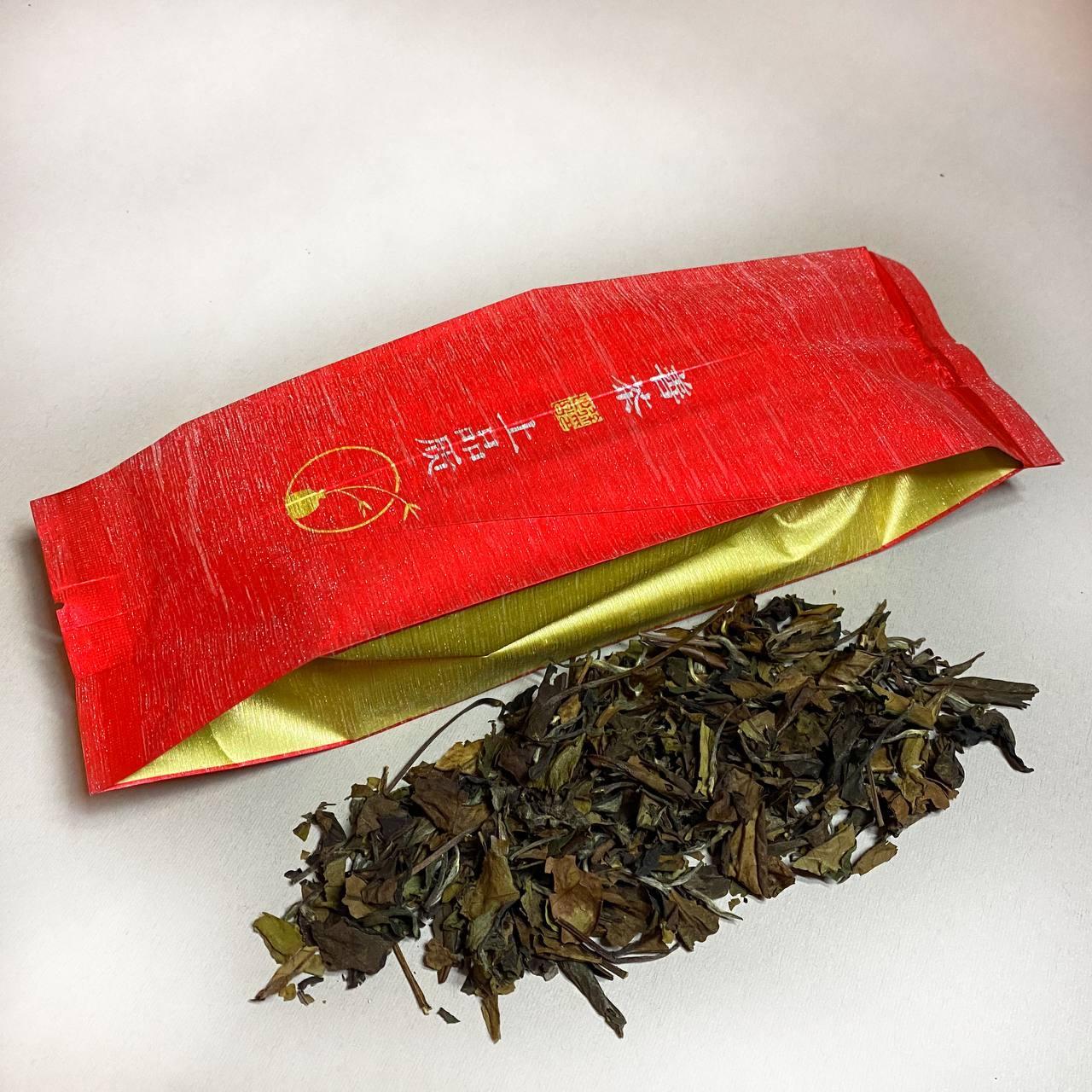 """Белый элитный чай Шоу Мей """"Брови долголетия"""" 50 грамм"""