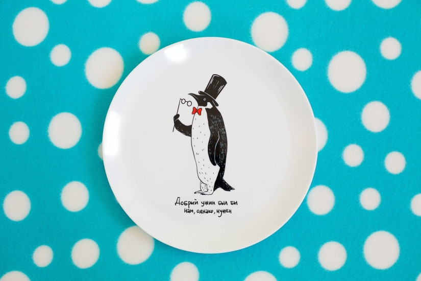 Тарелка Пингвин