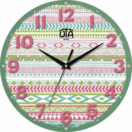 Настенные Часы Mini Разноцветные узоры