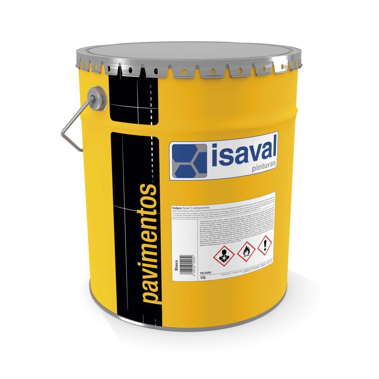 Эпоксидная краска для бетонных полов, 2-компонентная Изалпокс ISAVAL, база TR 16л ≈ 160м²/слой