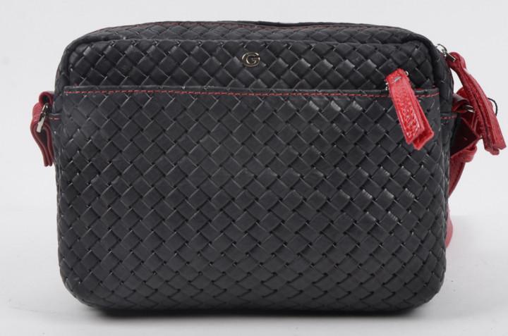 Жіноча шкіряна сумка Giorno чорна 2024982-7