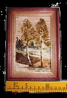 Картина с бересты 10х15