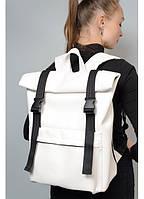 Рюкзак ролл Рюкзак женский Рюкзак для девушки Повседневный женский рюкзак Женский рюкзак белый