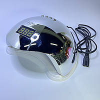 Лампа для ногтей LED/UV Sun 5 зеркальная серебро