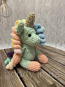 М'яка іграшка єдиноріг із плюшевої пряжі (гачок, амігурумі) 25 cm