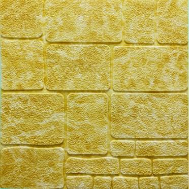 Мягкие 3D панели 700x770x7мм (самоклейка) Камень Желтый Мрамор