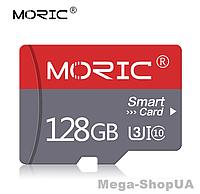 Карта памяти 128GB microSD Class 10 + SD-adapter. Карта памяти микро сд 128 гб Moric Smart Card XC321S, фото 1