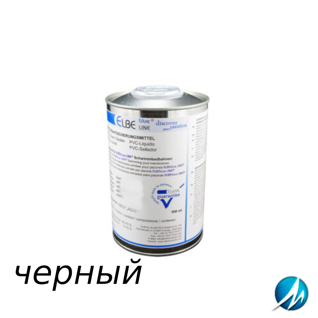 Жидкий ПВХ-герметик для швов Elbtal Plastics SUPRA black чёрный, цвет 809