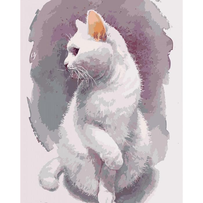 Картина по номерам КНО4181 Нежный кот 40*50см Идейка