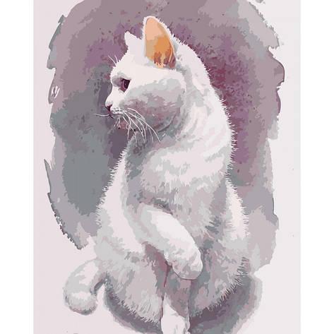 Картина по номерам КНО4181 Нежный кот 40*50см Идейка, фото 2