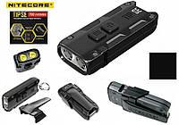 Наключный мини фонарик Nitecore TIP SE Black 700LM + Клипса крепеж (500mAh, USB Type-C, Osram P8)