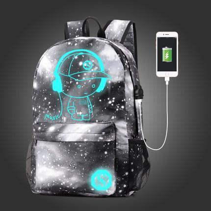 Рюкзак Senkey&Style серый городской светящийся Music с USB