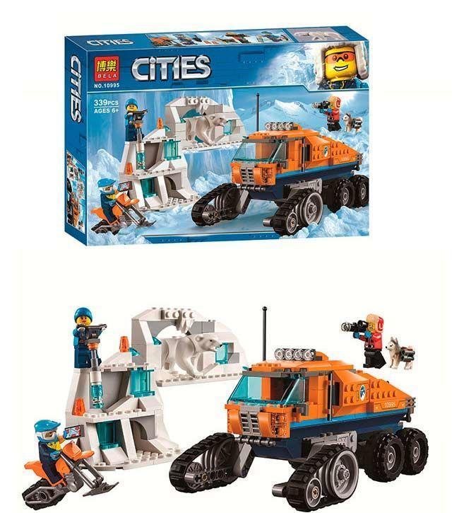 """Конструктор Bela Cities 10995 (24) """"Грузовик ледовой разведки"""", 339 деталей [Коробка]"""