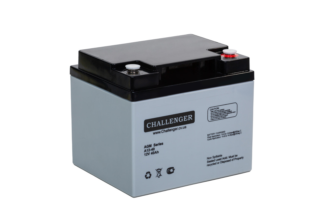 AGM аккумулятор Challenger A12-40 (12Вольт, 40 Ач)