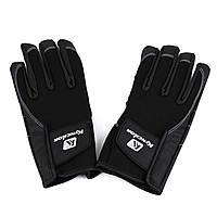 Перчатки спортивные (ЗП-107) Черный, XL