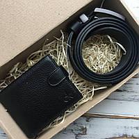 Подарочный набор для мужчины кошелек + ремень Подарунковий набір для чоловіка гаманець + ремінь