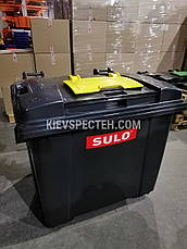 Євроконтейнер з кришкою в пласкій кришці 1100 л, Sulo чорний, фото 3