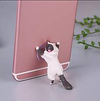Держатель для телефона подставка кот