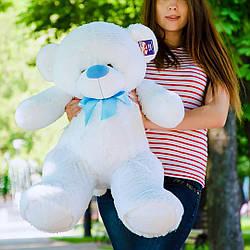 Плюшевые медведи: Плюшевый медвежонок Бойд 1 метр (100 см), Белый