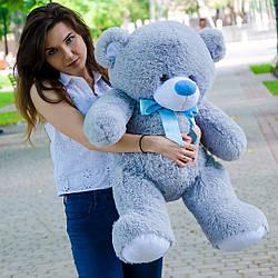 Плюшевые медведи: Плюшевый медвежонок Бойд 1 метр (100 см), Серый
