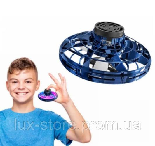 Літаючий спиннер Flynova з LED підсвічуванням Original New Синій