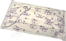Маска одноразовая медицинская с рисунком 3-х слойная - 100 шт