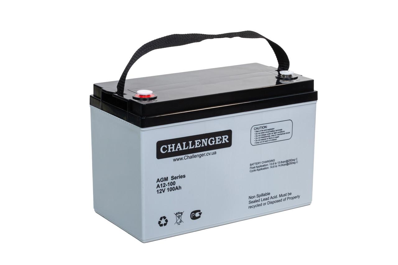 AGM аккумулятор Challenger A12-100 (12Вольт, 100 Ач)