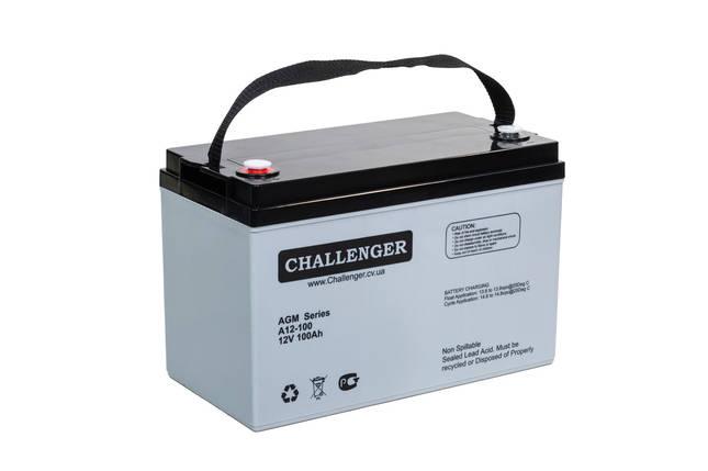 AGM аккумулятор Challenger A12-100 (12Вольт, 100 Ач), фото 2