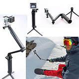 Монопод трипод штатив для экшн камер GoPro и другие 3-Way, фото 4