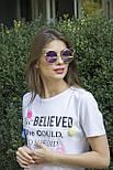 Солнцезащитные женские очки 1180-1 фиолетовое напыление, фото 6