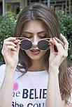 Солнцезащитные женские очки 1180-1 фиолетовое напыление, фото 7