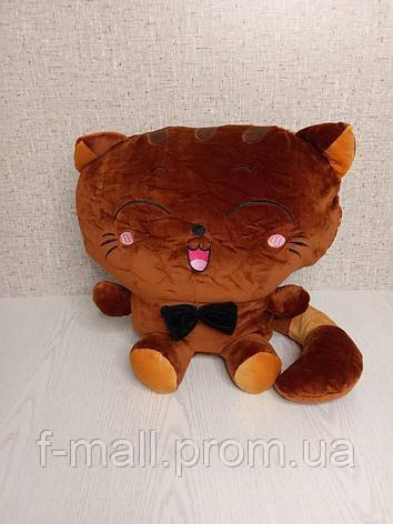 Плед м'яка іграшка 3 в 1 Котик коричневий (42)