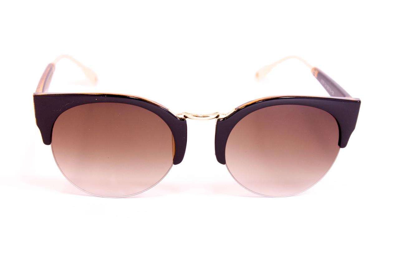 Солнцезащитные женские очки 8127-1 коричневая линза