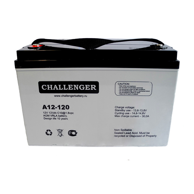 AGM аккумулятор Challenger A12-120 (12Вольт, 120 Ач)