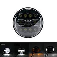 Фари світлодіодні LED 7 дюймів, кругла, 1 шт, 35 Вт (УАЗ, ГАЗ, Камаз, Jeep Nissan, FJ Cruiser, Harley Davidson