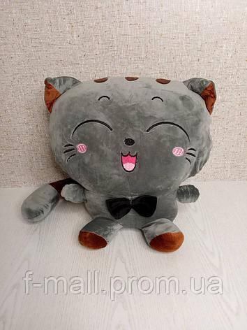 Плед мягкая игрушка 3 в 1 Котик серый  (43)