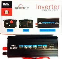 Преобразователь напряжения ukc 2000 w 12v 220v