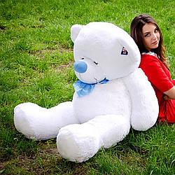 Плюшевые медведи: Плюшевый медвежонок Бойд 1,6 метра (160 см), Белый