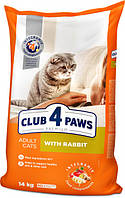 Сухой корм для котов с кроликом, Клуб 4 лапы Premium 14 кг