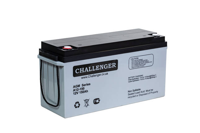 AGM аккумулятор Challenger A12-150 (12Вольт, 150 Ач), фото 2