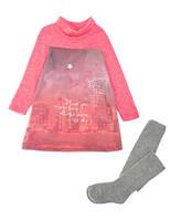 Костюм: Платье, колготы Losan Mc baby girls (526-8041AD/642) Светло-малиновый 7 Years-122 см