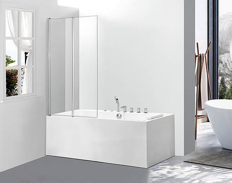 Стеклянная шторка для ванны AVKO Glass 542-2 120x140 Clear, фото 2