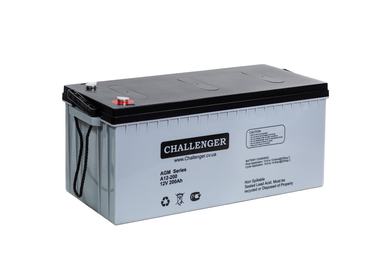 AGM аккумулятор Challenger A12-200 (12Вольт, 200 Ач)