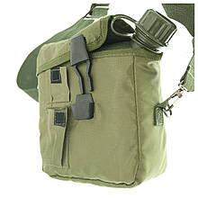 Фляга армейская  2 кварты с чехлом и ремнем  MIL-TEC США OLIVE 14510001