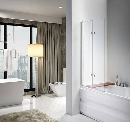 Стеклянная шторка для ванны AVKO Glass 647 120x140 Clear, фото 2