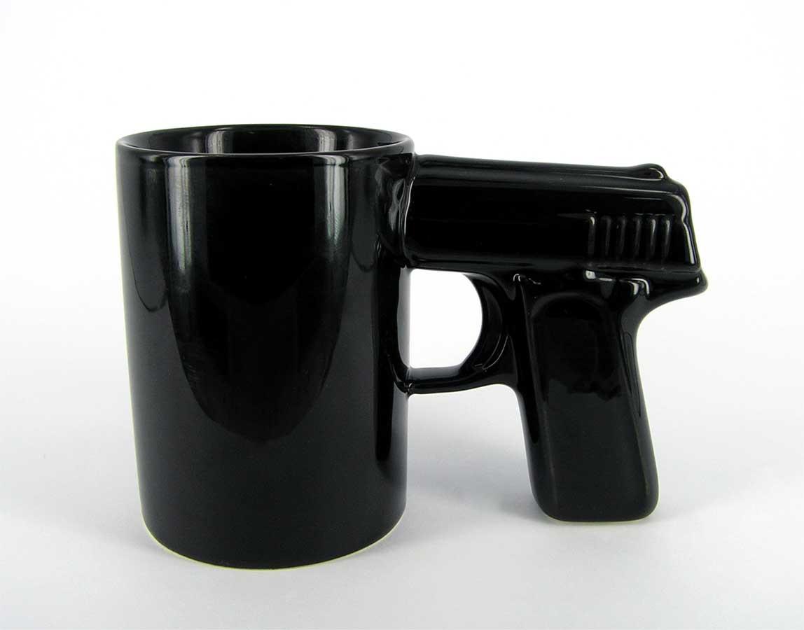 Чашка Пистолет (черная)